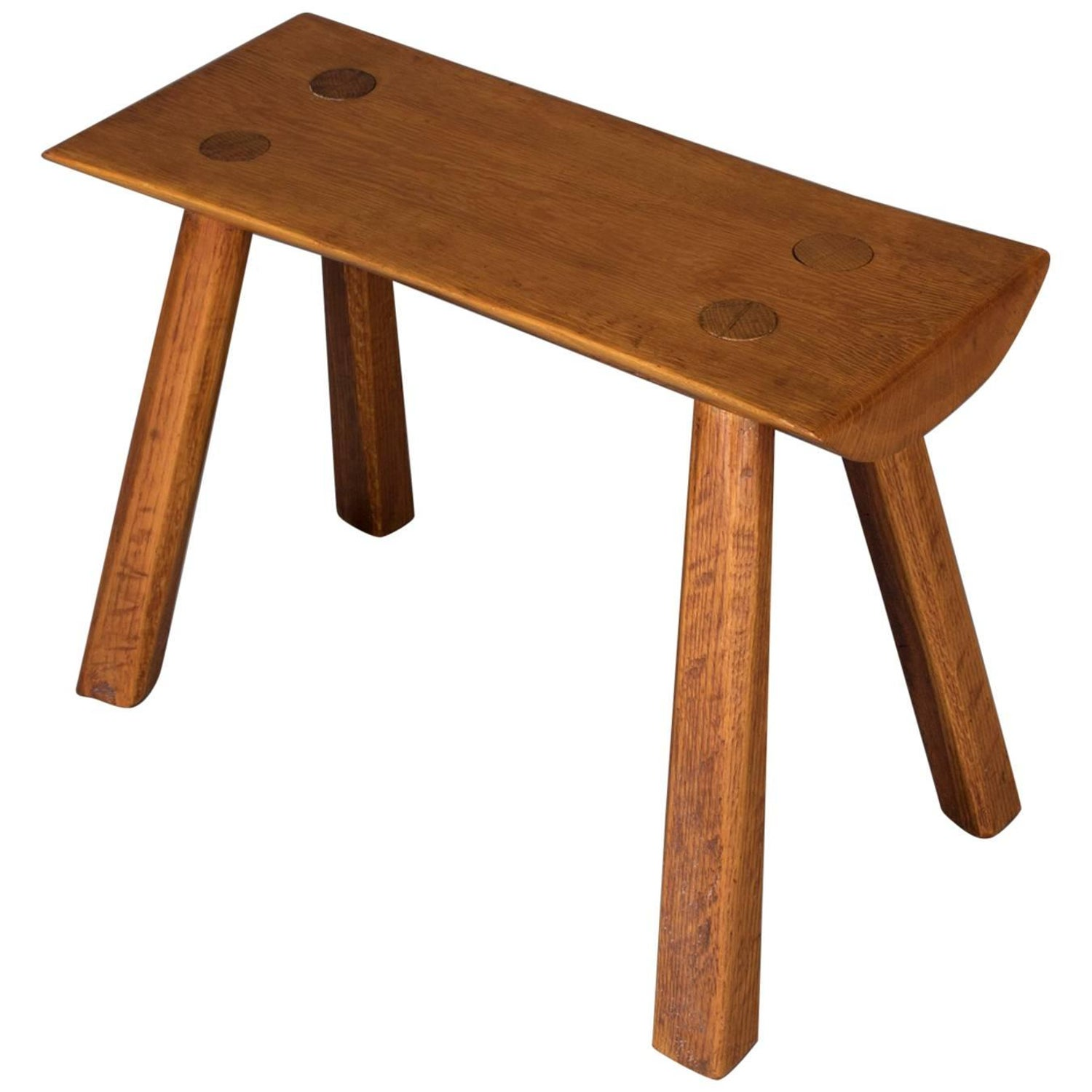 Adirondack old hickory school hand carved mortise and tenon slab wood bench at 1stdibs
