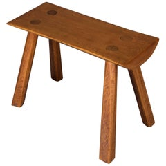 Adirondack Old Hickory School Hand-Carved Mortise & Tenon Slab Wood Bench
