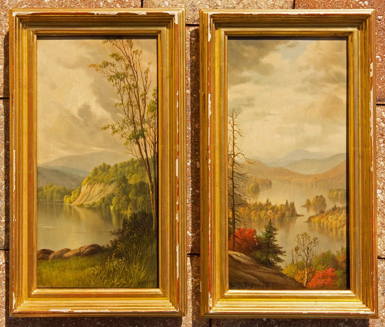 Adirondack Paintings by Levi Wells Prentice In Good Condition For Sale In Rochester, NY