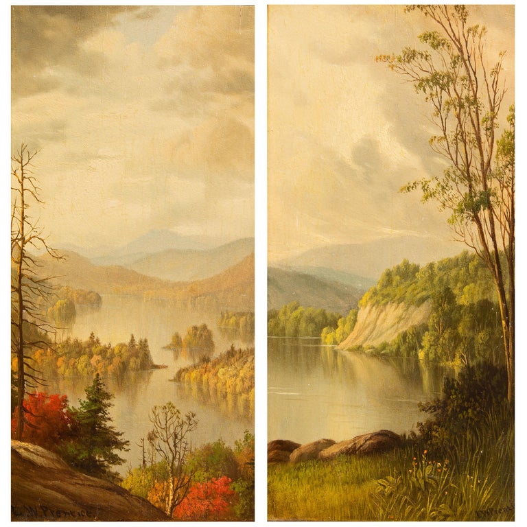 Adirondack Paintings by Levi Wells Prentice For Sale