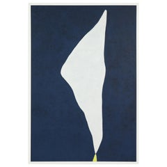 "Adja Yunkers 1900-1983 ""White on Smoke Blue"" Acrylic on Canvas, USA 1970"