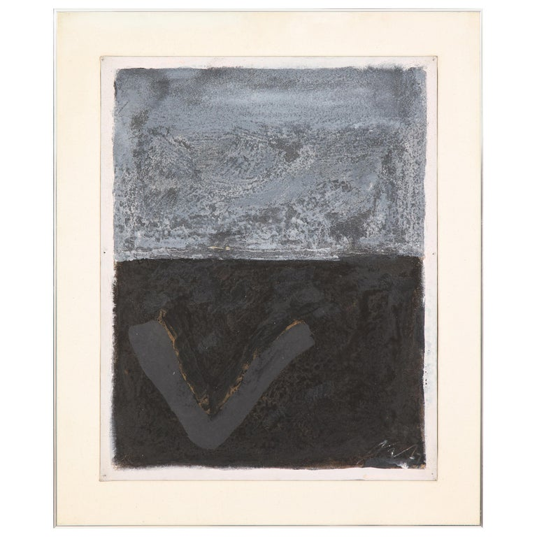 """Adja Yunkers Acrylic on Board Painting """"Made to Measure"""", USA, 1970s For Sale"""