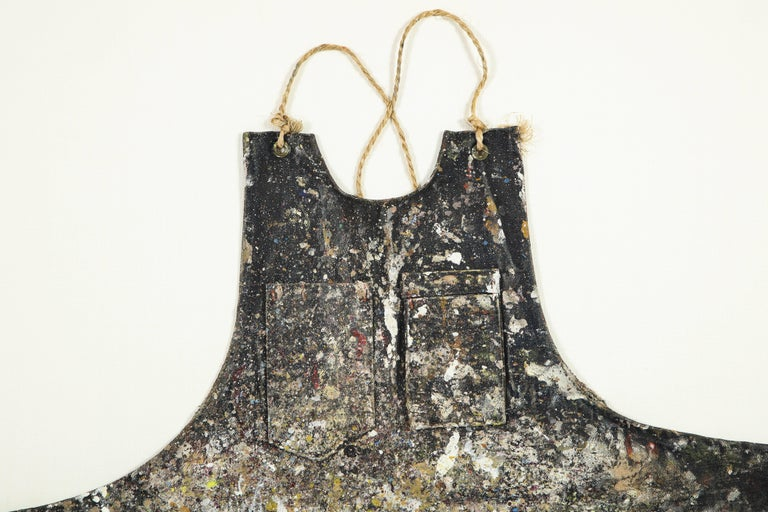 American Adja Yunkers Artist's Apron, Mounted and Framed For Sale