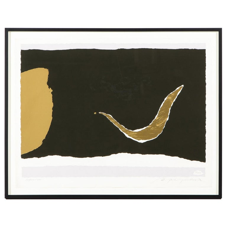 """Adja Yunkers Lithograph """"Morketiden"""" For Sale"""