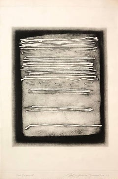 Large Intaglio Etching Abstract Latvian American Modernist Artist Embossing
