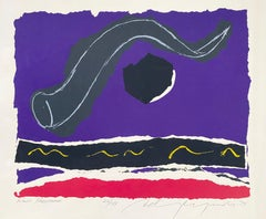 Large Silkscreen Abstract Latvian American Modernist Artist - Rosh Hashana