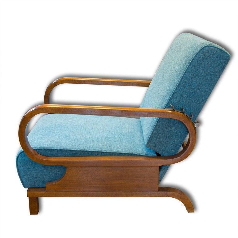 Mid-20th Century Adjustable Art Deco Armchairs, 1930s, Set of 2