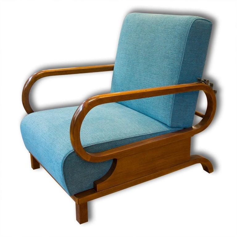 Adjustable Art Deco Armchairs, 1930s, Set of 2 1