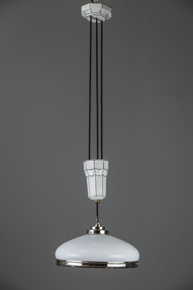 Adjustable Art Deco chandelier 1920s by Bauhaus