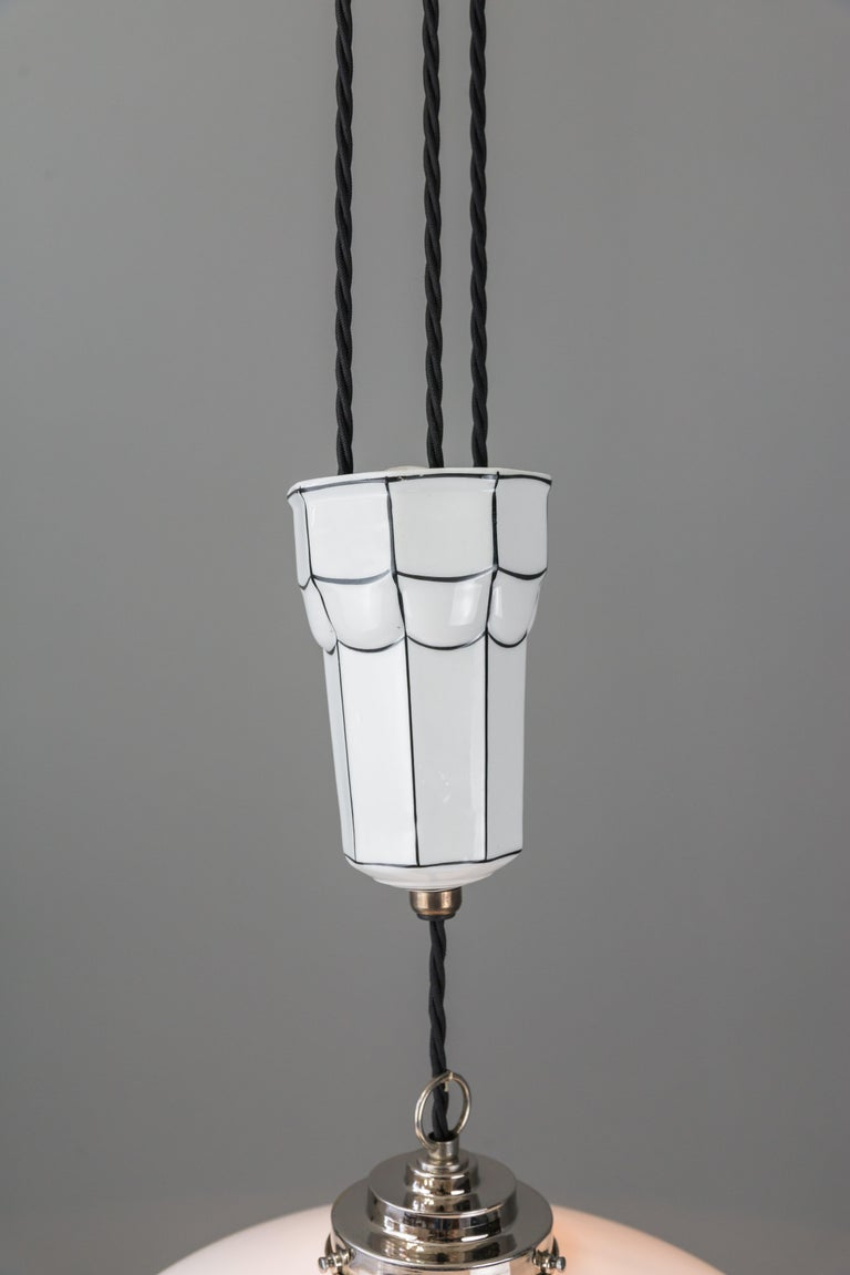 Adjustable Art Deco Chandelier 1920s by Bauhaus For Sale 1