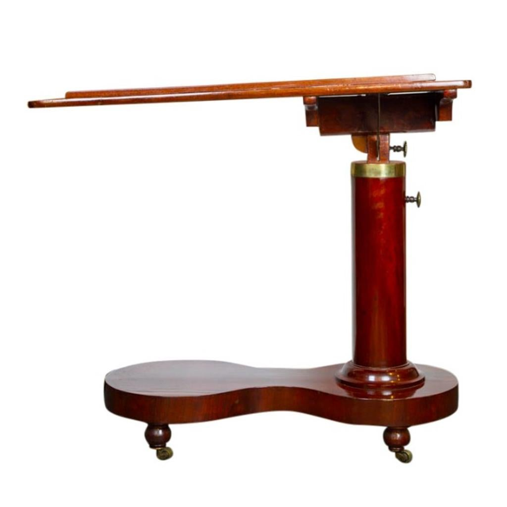 Genial Adjustable Bed Side Or Reading Table, Biedermeier