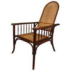 Adjustable Bentwood Armchair / Chaise Longue, Fischel, circa 1910