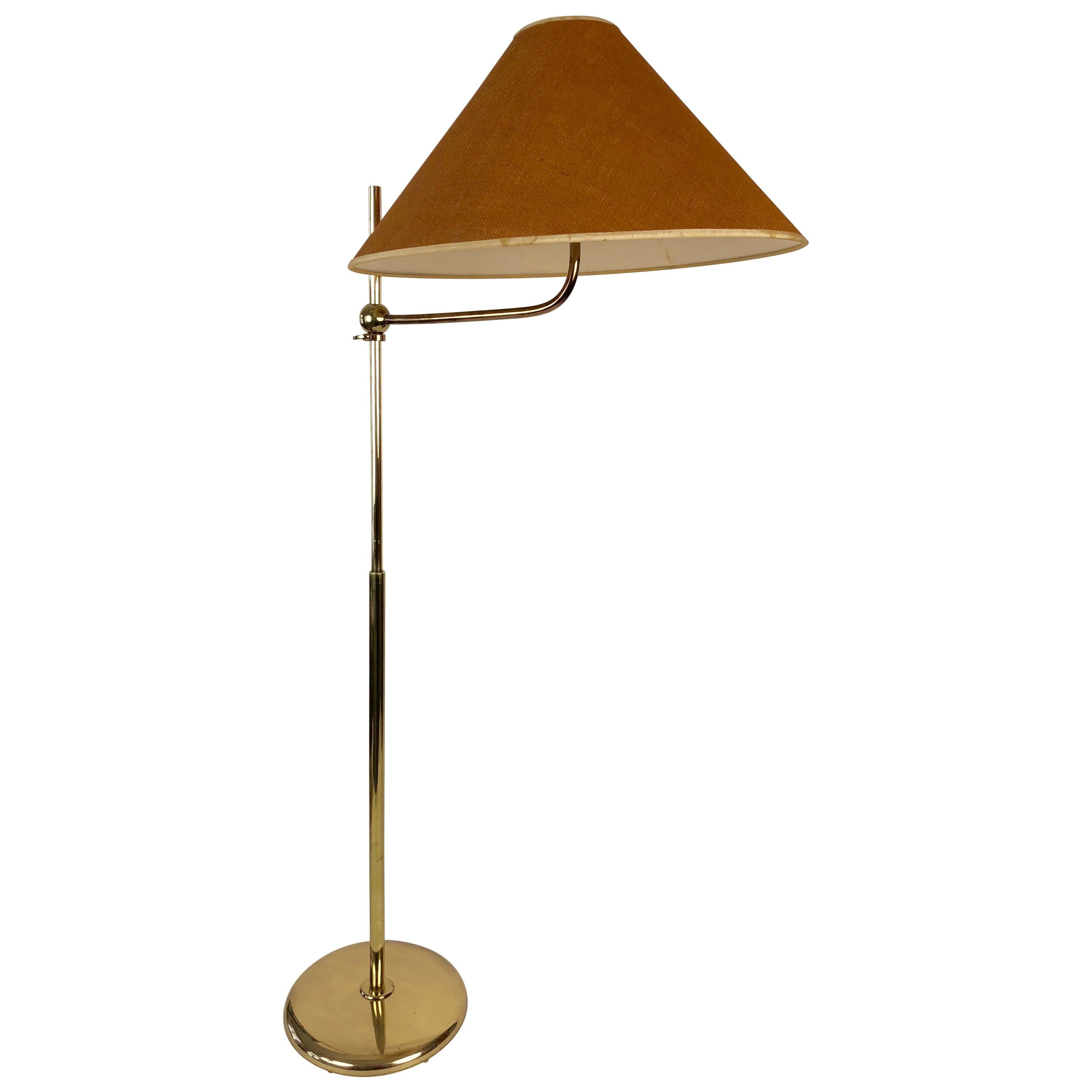 Adjustable Brass Floor Lamp from J. T. Kalmar, Made in the 1960s
