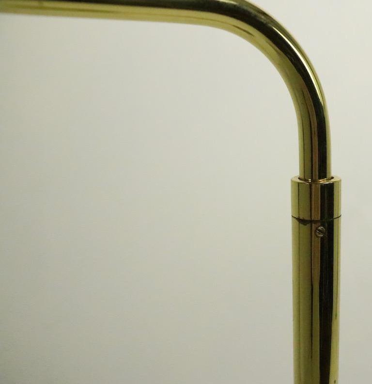 Argentine Adjustable Brass Pharmacy Lamp by JPF Mendizabal for Industria Argentina For Sale