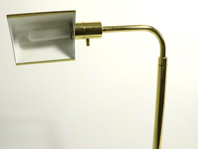 Adjustable Brass Pharmacy Lamp by JPF Mendizabal for Industria Argentina For Sale 2
