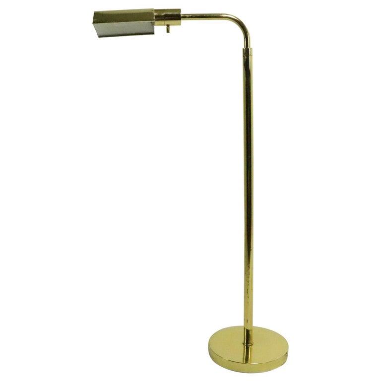 Adjustable Brass Pharmacy Lamp by JPF Mendizabal for Industria Argentina For Sale