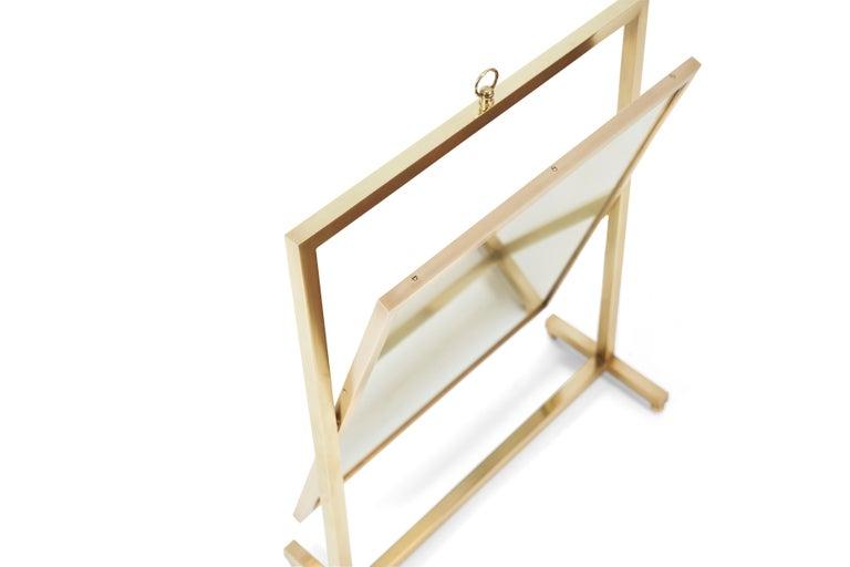 Mid-Century Modern Adjustable Brass Vanity Mirror, Mid Century, 1960s For Sale