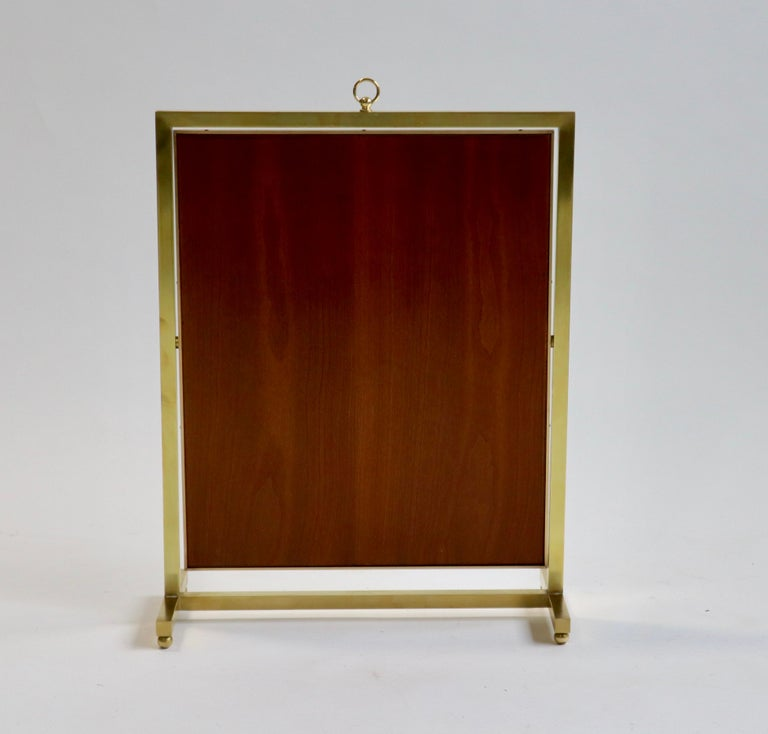 Adjustable Brass Vanity Mirror, Mid Century, 1960s For Sale 1