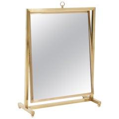 Adjustable Brass Vanity Mirror, Midcentury, 1960s