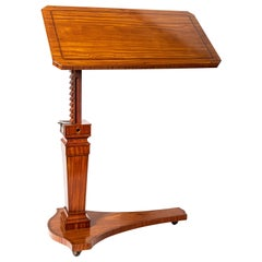Adjustable Citronnier Wood Reading Table, England, Late 19th Century