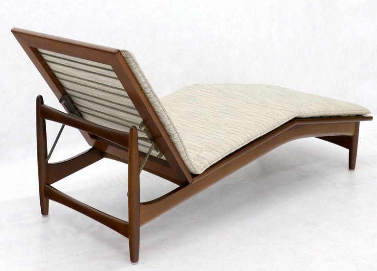 Upholstery Adjustable Danish Mid-Century Modern Chaise Lounge by Selig For Sale