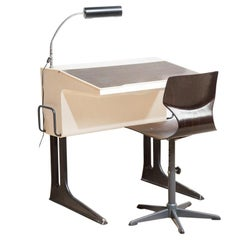 Adjustable Desk and Chair by Luigi Colani for Flototto