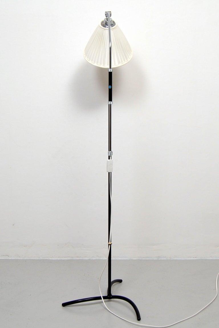 Scandinavian Modern Adjustable Floor Lamp by Eskilstuna Elektrofabrik, Sweden, 1950s For Sale