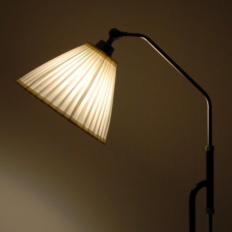 Swedish Adjustable Floor Lamp by Eskilstuna Elektrofabrik, Sweden, 1950s For Sale