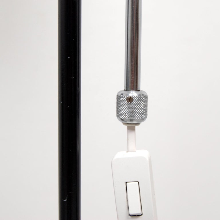 Adjustable Floor Lamp by Eskilstuna Elektrofabrik, Sweden, 1950s For Sale 1