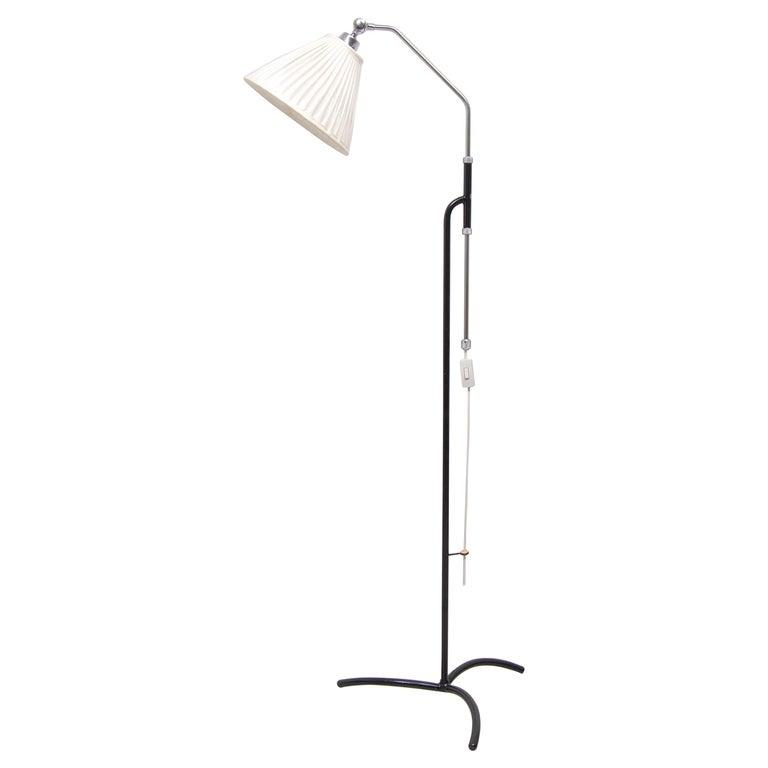 Adjustable Floor Lamp by Eskilstuna Elektrofabrik, Sweden, 1950s For Sale