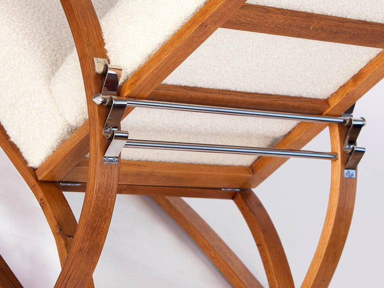 Adjustable H-70 Armchair by Jindrich Halabala, 1930s For Sale 3