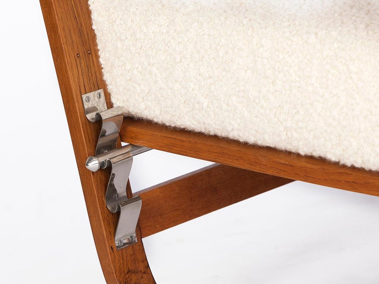 Adjustable H-70 Armchair by Jindrich Halabala, 1930s For Sale 4