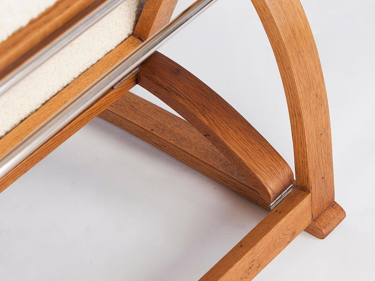 Adjustable H-70 Armchair by Jindrich Halabala, 1930s For Sale 5