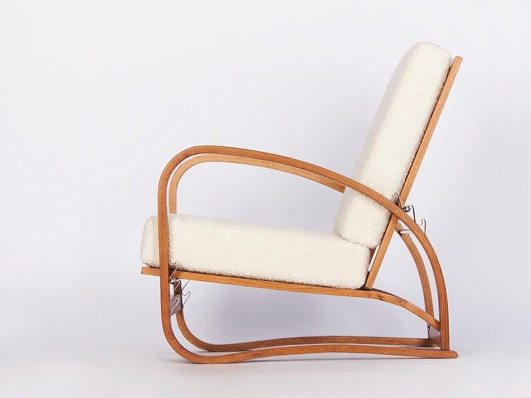 Art Deco Adjustable H-70 Armchair by Jindrich Halabala, 1930s For Sale
