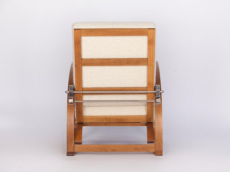 Adjustable H-70 Armchair by Jindrich Halabala, 1930s In Excellent Condition For Sale In Wien, AT