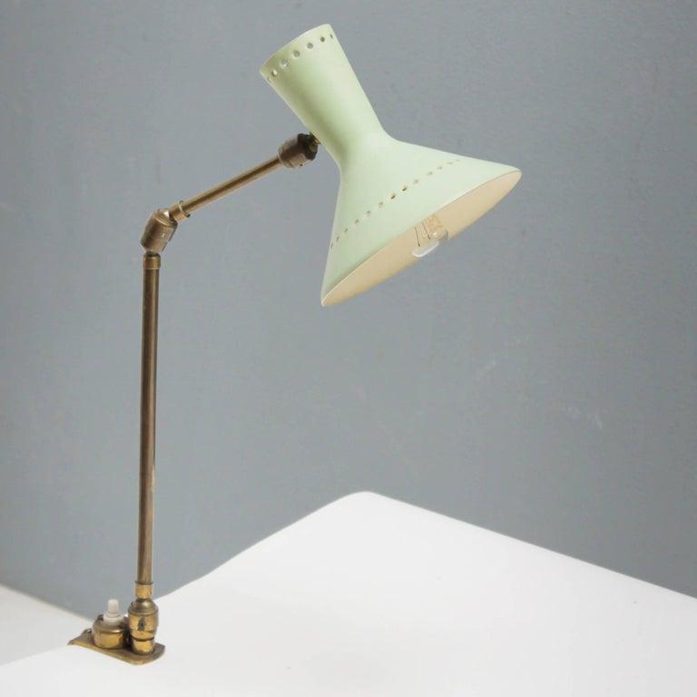Metal Adjustable Italian Desk Lamp For Sale