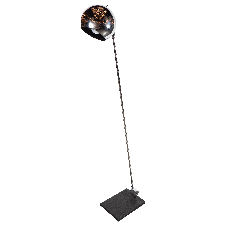 Adjustable Mid-Century Modernist Floor Lamp by Robert Sonneman