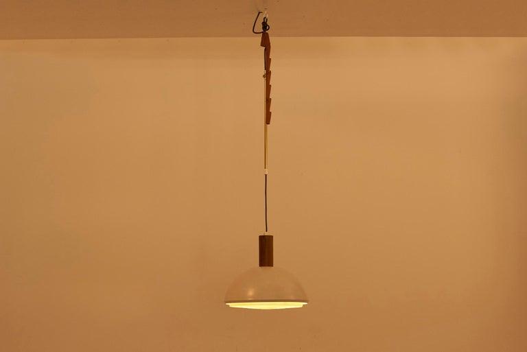 Danish Adjustable Pendant Lamp by Svend Aage Holm Sørensen, Denmark, 1960s For Sale