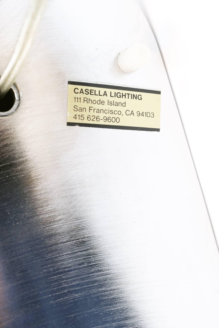 Adjustable Polished Chrome Floor Lamp by Casella For Sale 5