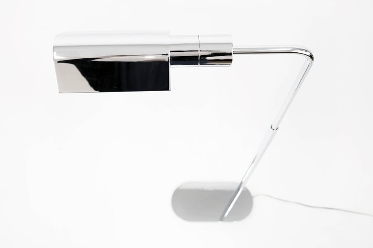 American Adjustable Polished Chrome Floor Lamp by Casella For Sale