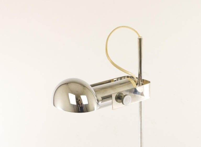 Lacquered Adjustable T395 Table Lamp by Robert Sonneman for Luci Cinisello, 1970s For Sale