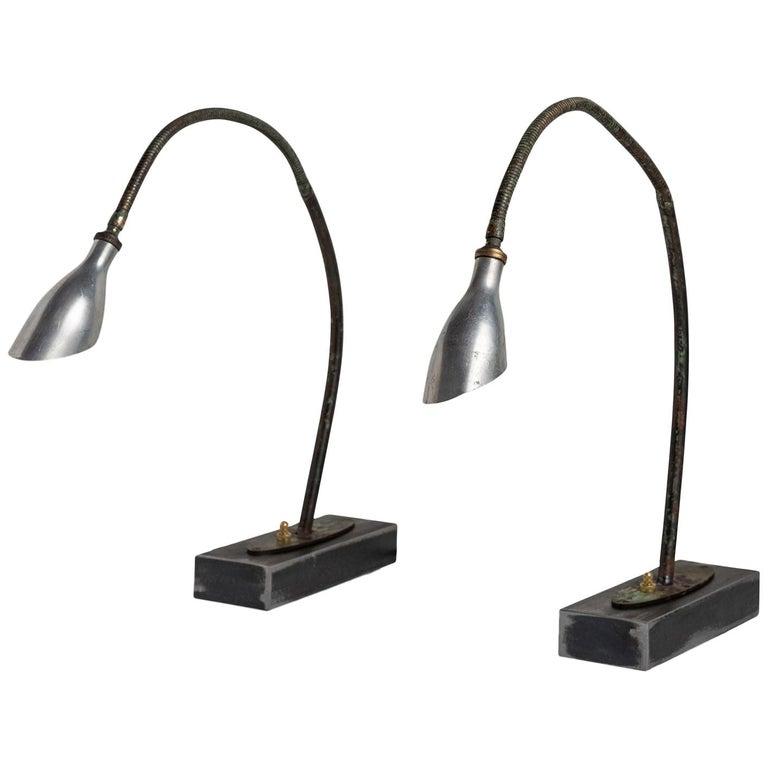 Adjustable Verdigris Task Light For Sale