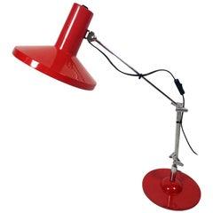 Adjustable Workshop Lamp, Painted Steel, 1970s