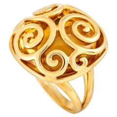 Adler 18 Karat Yellow Gold Citrine Ring