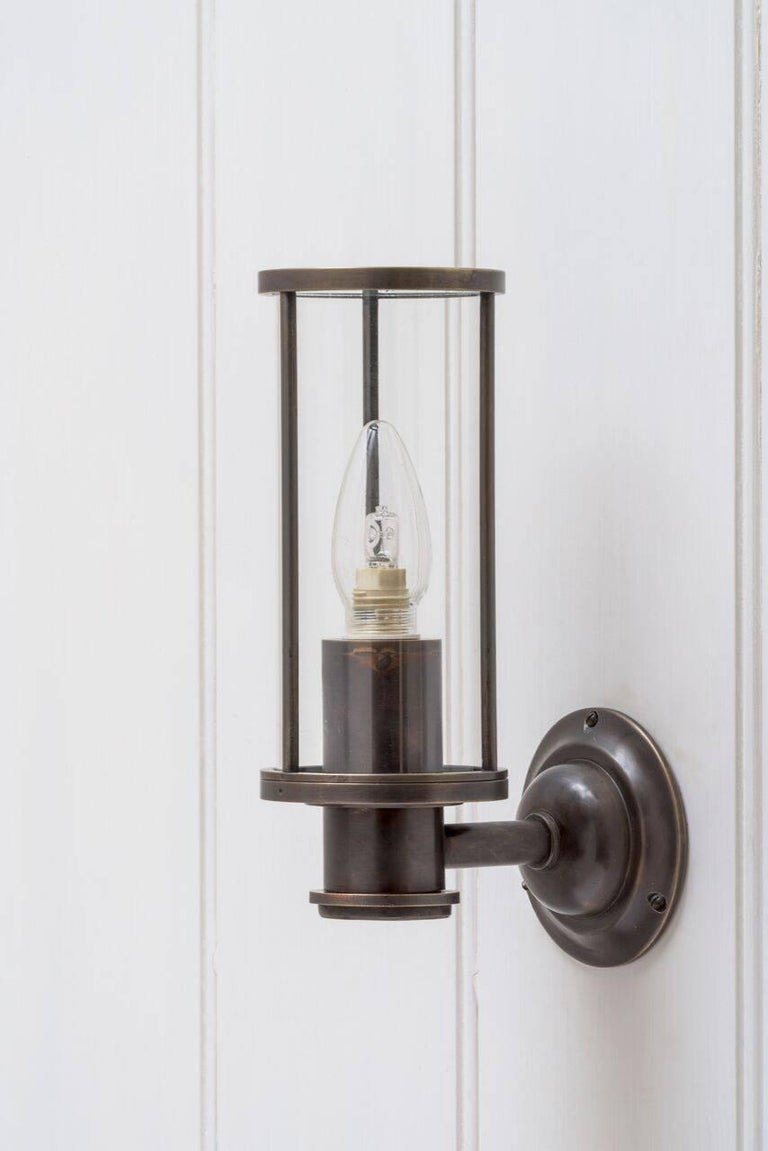 Industrial Jamb, Adler, Cast + patinated Bronze Finish Wall Light Sconce (EU Wired) For Sale