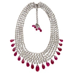 Adler Diamond and Ruby 'No Heat' Necklace AGL Certified 211 Carat Total Weight