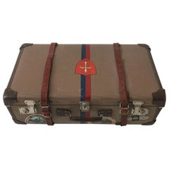 Adler Koffer Luggage with Painted Coat of Arms, Crest of Trieste, Austria 1930s