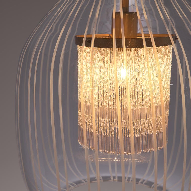 Mid-Century Modern Admirable Angelo Brotto Pendant in Murano Glass For Sale