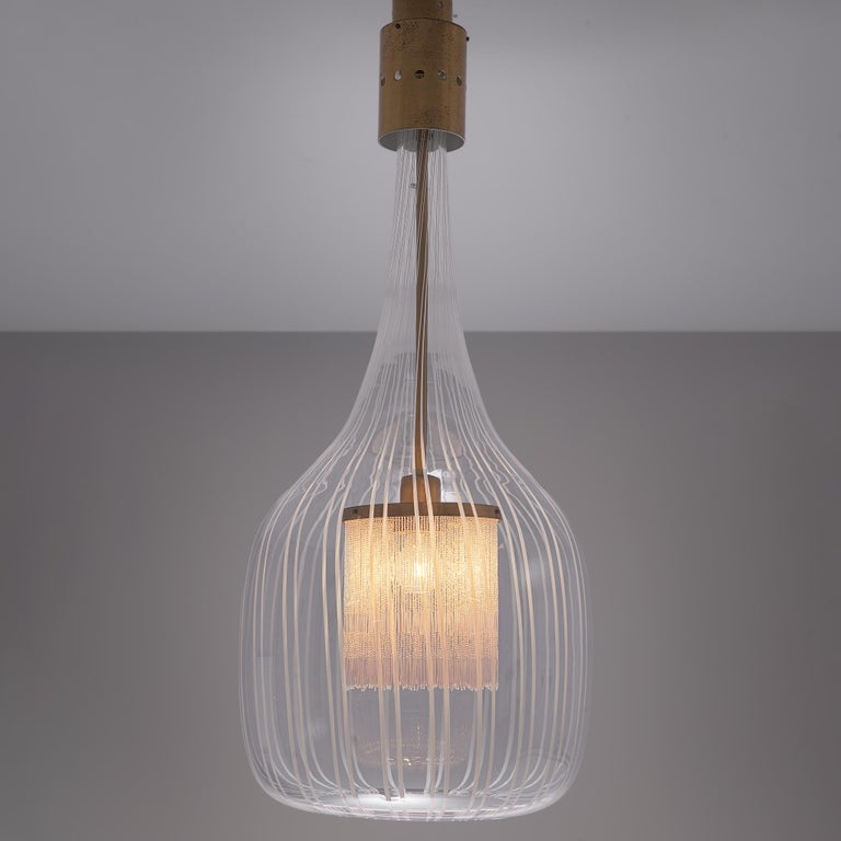 Admirable Angelo Brotto Pendant in Murano Glass In Good Condition For Sale In Waalwijk, NL