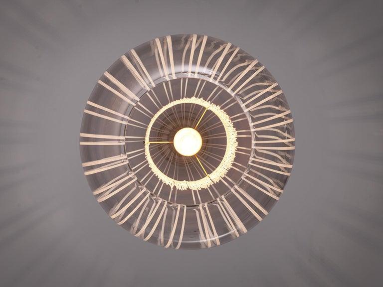 Late 20th Century Admirable Angelo Brotto Pendant in Murano Glass For Sale